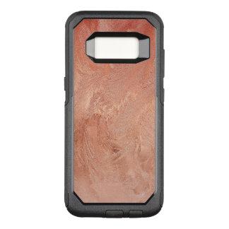 Capa OtterBox Commuter Para Samsung Galaxy S8 Textura cor-de-rosa do cobre do ouro metálica