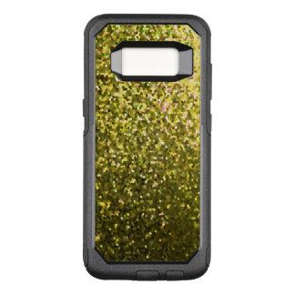 Capa OtterBox Commuter Para Samsung Galaxy S8 Textura da faísca do mosaico do ouro do exemplo de