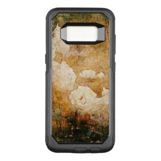 Capa OtterBox Commuter Para Samsung Galaxy S8 textura floral do fundo do vintage do grunge da