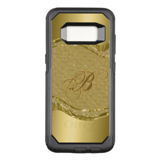 Capa OtterBox Commuter Para Samsung Galaxy S8 Textura geométrica do ouro & dos diamantes com