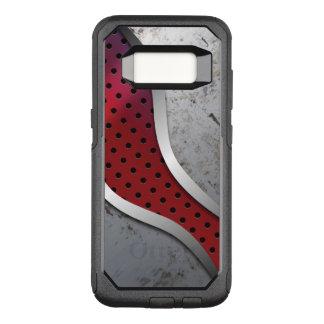 Capa OtterBox Commuter Para Samsung Galaxy S8 Textura metálica suja vermelha & cinzenta