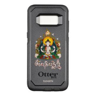 Capa OtterBox Commuter Para Samsung Galaxy S8 Tibetano do zumbido de Buddha Amitabha OM Mani