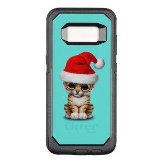 Capa OtterBox Commuter Para Samsung Galaxy S8 Tigre Cub bonito que veste um chapéu do papai noel