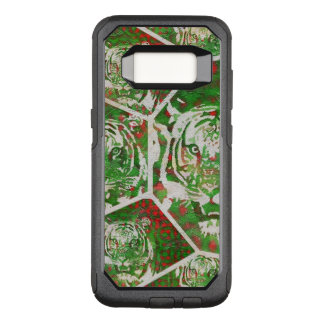 Capa OtterBox Commuter Para Samsung Galaxy S8 Tigre vermelho verde fluorescente