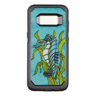 Capa OtterBox Commuter Para Samsung Galaxy S8 Tipo alga de flutuação do dragão do cavalo marinho