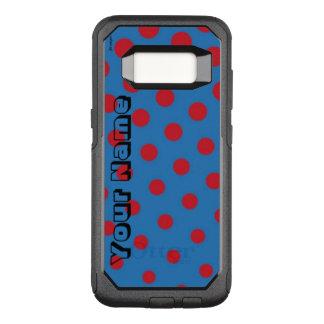 Capa OtterBox Commuter Para Samsung Galaxy S8 Tiragem e teste padrão repetido dos pontos