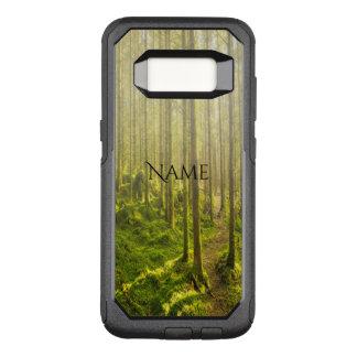 Capa OtterBox Commuter Para Samsung Galaxy S8 Trajeto de floresta do enrolamento no nome dourado