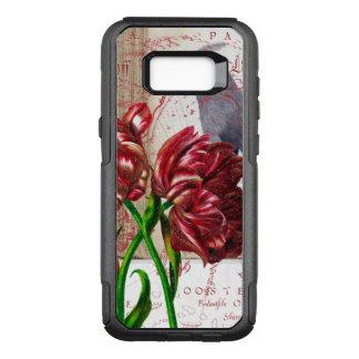 Capa OtterBox Commuter Para Samsung Galaxy S8+ Tulipa e Waxwing boémio
