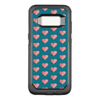 Capa OtterBox Commuter Para Samsung Galaxy S8 Turquesa bonito cor-de-rosa feminino dos desenhos