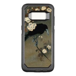 Capa OtterBox Commuter Para Samsung Galaxy S8 Um corvo e uma flor pelo vintage de Ohara Koson