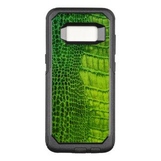 Capa OtterBox Commuter Para Samsung Galaxy S8 Um monstro de mar do olho no couro verde-claro do