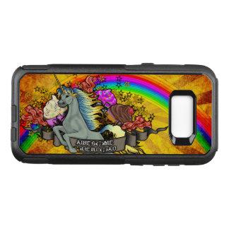 Capa OtterBox Commuter Para Samsung Galaxy S8+ Unicórnio, arco-íris & bacon impressionantes da