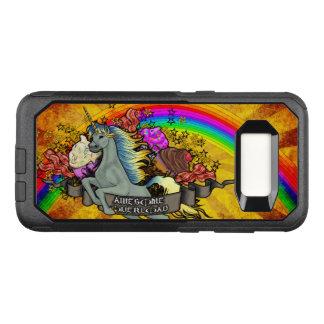 Capa OtterBox Commuter Para Samsung Galaxy S8 Unicórnio, arco-íris & bacon impressionantes da
