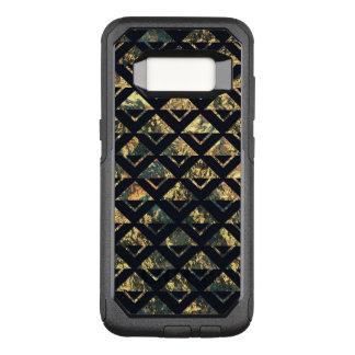 Capa OtterBox Commuter Para Samsung Galaxy S8 Verde preto abstrato do ouro de GrungeMetal Argyle