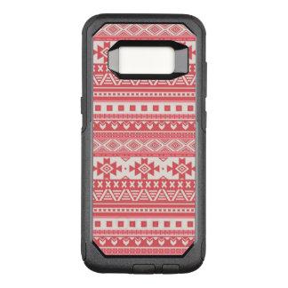 Capa OtterBox Commuter Para Samsung Galaxy S8 vermelho tribal extravagante do teste padrão 08 da