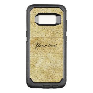Capa OtterBox Commuter Para Samsung Galaxy S8 Vigas chiques do brilho do ouro do falso