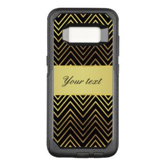 Capa OtterBox Commuter Para Samsung Galaxy S8 Vigas elegantes da folha de ouro do falso
