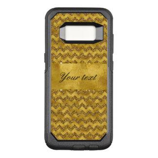 Capa OtterBox Commuter Para Samsung Galaxy S8 Vigas glamoroso do brilho do ouro do falso