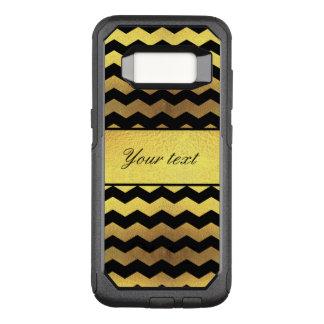Capa OtterBox Commuter Para Samsung Galaxy S8 Vigas grandes do preto da folha de ouro do falso