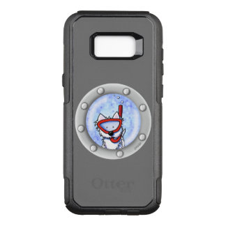 Capa OtterBox Commuter Para Samsung Galaxy S8+ Vigia de Westie do Snorkel de KiniArt