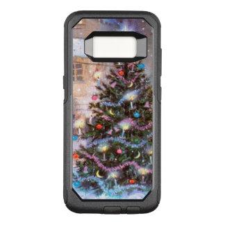 Capa OtterBox Commuter Para Samsung Galaxy S8 Vintage da árvore de Natal