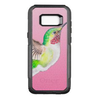Capa OtterBox Commuter Para Samsung Galaxy S8+ Vitral cor-de-rosa do colibri