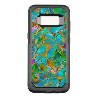 Capa OtterBox Commuter Para Samsung Galaxy S8 Vitral floral da caixa da galáxia S8 de Samsung