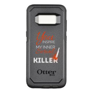 Capa OtterBox Commuter Para Samsung Galaxy S8 Você inspira meu assassino em série interno