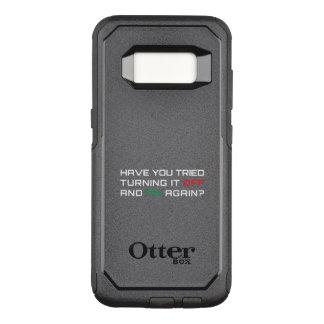 Capa OtterBox Commuter Para Samsung Galaxy S8 Você tentou desligá-lo e sobre outra vez?