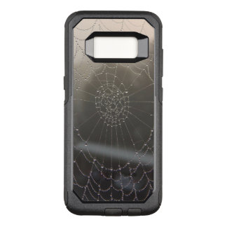 Capa OtterBox Commuter Para Samsung Galaxy S8 Web de aranha com orvalho da manhã