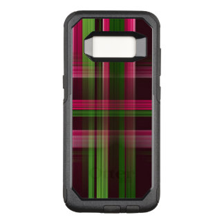 Capa OtterBox Commuter Para Samsung Galaxy S8 Xadrez cor-de-rosa e verde no exemplo de Samsung