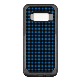 Capa OtterBox Commuter Para Samsung Galaxy S8 Xadrez do búfalo do inverno do preto azul do
