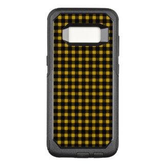 Capa OtterBox Commuter Para Samsung Galaxy S8 Xadrez preta amarela do búfalo do inverno do