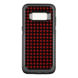 Capa OtterBox Commuter Para Samsung Galaxy S8 Xadrez preta vermelha do búfalo do inverno do