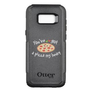 Capa OtterBox Commuter Para Samsung Galaxy S8+ You've obteve a uma pizza meu coração chalaça