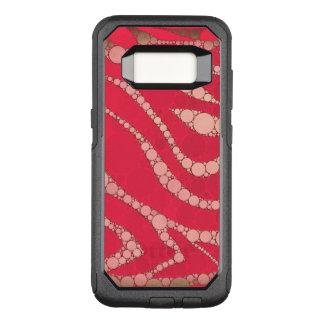 Capa OtterBox Commuter Para Samsung Galaxy S8 Zebra cor-de-rosa fluorescente de Tan