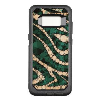 Capa OtterBox Commuter Para Samsung Galaxy S8 Zebra verde Bling do pêssego
