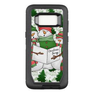 Capa OtterBox Defender Para Samsung Galaxy S8 3 Carolers do boneco de neve
