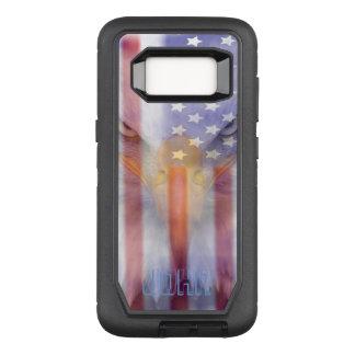 Capa OtterBox Defender Para Samsung Galaxy S8 A bandeira | desvaneceu-se Eagle | personalizado