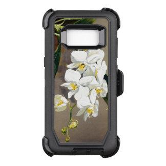 Capa OtterBox Defender Para Samsung Galaxy S8 A orquídea floresce a caixa da galáxia S8 de