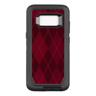 Capa OtterBox Defender Para Samsung Galaxy S8 Argyle vermelho