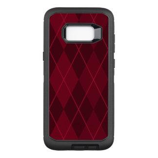 Capa OtterBox Defender Para Samsung Galaxy S8+ Argyle vermelho