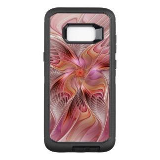 Capa OtterBox Defender Para Samsung Galaxy S8+ Arte colorida do Fractal da fantasia da borboleta