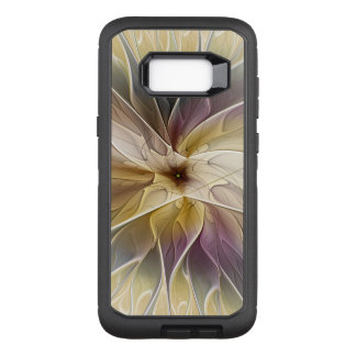 Capa OtterBox Defender Para Samsung Galaxy S8+ Arte floral do Fractal do abstrato da beringela do
