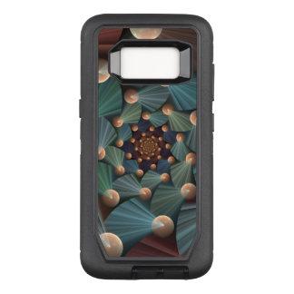 Capa OtterBox Defender Para Samsung Galaxy S8 Arte moderna do Fractal com profundidade, Brown,