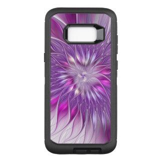 Capa OtterBox Defender Para Samsung Galaxy S8+ Arte roxa cor-de-rosa do Fractal do abstrato da