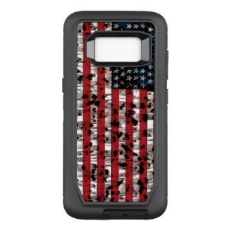 Capa OtterBox Defender Para Samsung Galaxy S8 Bandeira americana envelhecida