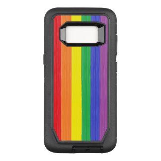 Capa OtterBox Defender Para Samsung Galaxy S8 Bandeira pintada do arco-íris