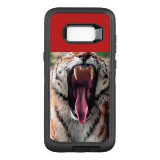 Capa OtterBox Defender Para Samsung Galaxy S8+ Bocejo do tigre, língua, presas