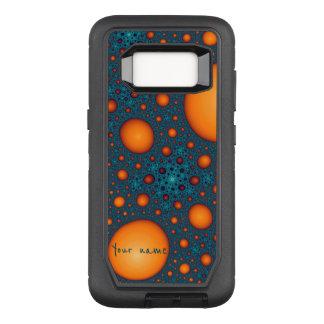 Capa OtterBox Defender Para Samsung Galaxy S8 Bolhas alaranjadas